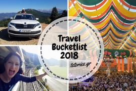 Η travel bucketlist του 2018